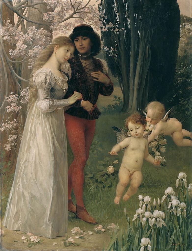 Ernst Klimt, Francesca da Rimini e Paolo (1890)